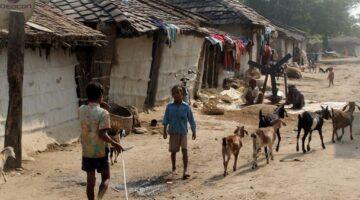 Villaggio di poveri nella diocesi di Ranchi